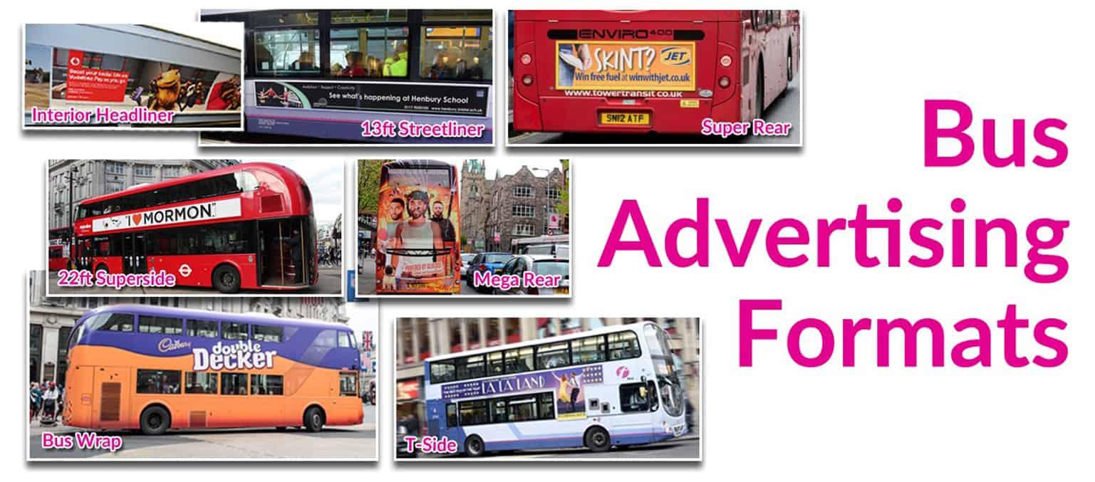 Bus advertising formats