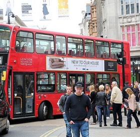 London Bus Advert